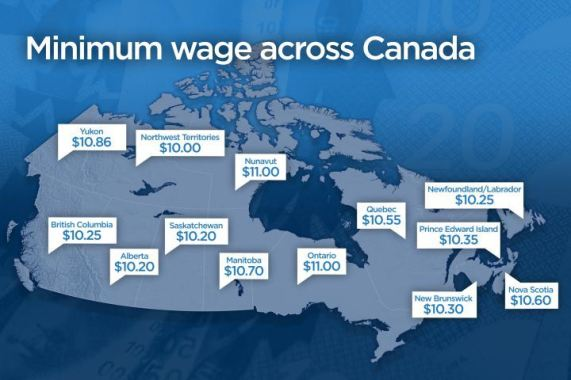 Minimum Wages Across Canada From Global Edmonton. http://globalnews.ca/news/2025940/albertas-phased-minimum-wage-hike-to-start-in-october/